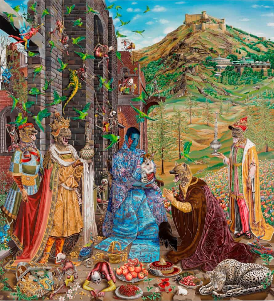 Reinventing the old masters … Raqib Shaw's The Adoration (after Jan Gossaert) (2015-16).