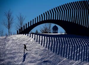 Ottawa, CanadaA child runs across a slope at Lansdowne Park