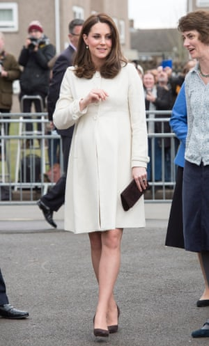 The Duchess of Cambridge during her pregnancy earlier this year.