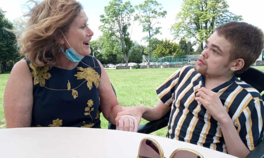 Jamie Macfarlane, 21, right, and his mother Melanie Macfarlane