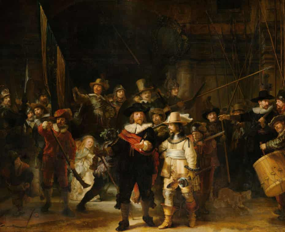 Out of control … The Night Watch, Rembrandt van Rijn, 1642.