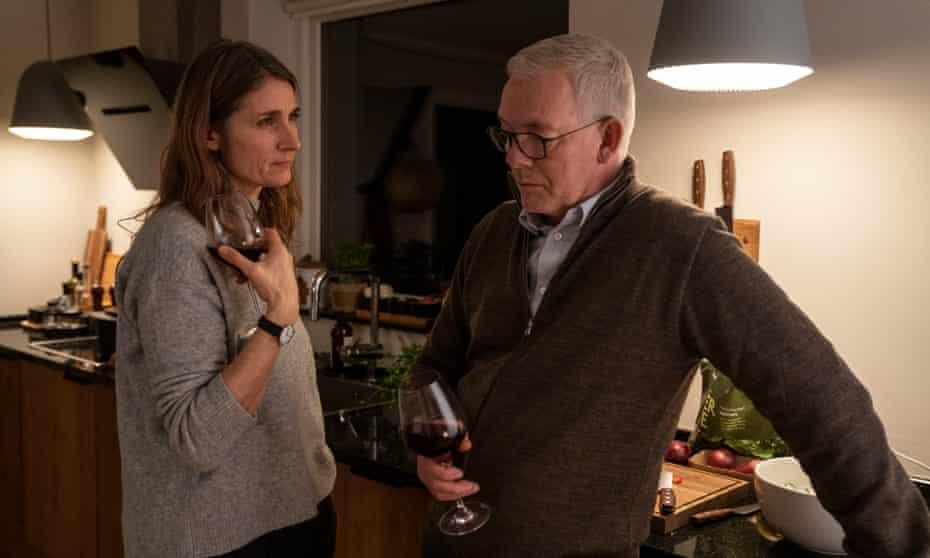 Emotional toll … Søren Malling as Jens Møller with Charlotte Munck as his wife Kristine.