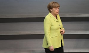Chancellor Angela Merkel popularity has been hit by the allegations that Germany's BND intelligence agency helped the NSA spy on European companies and officials.