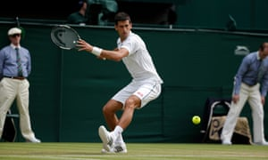 A ruthless Djokovic dominates on Centre Court.