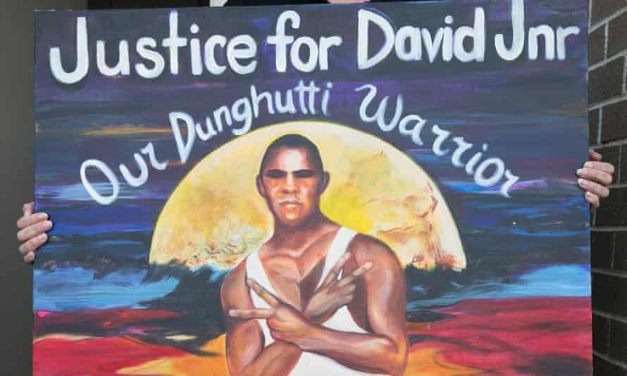 A painting of David Dungay Jr, who died in custody in December 2015