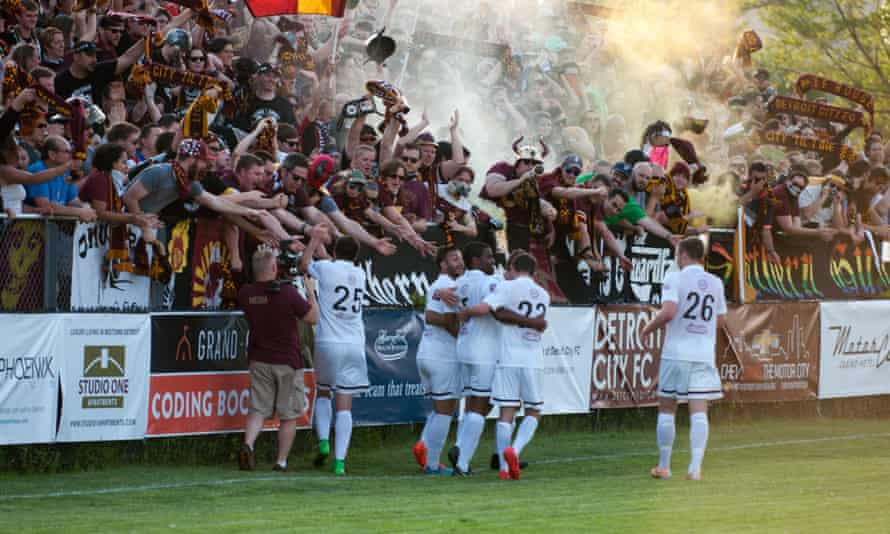 Detroit City FC's squad mainly consists of NCAA soccer players.