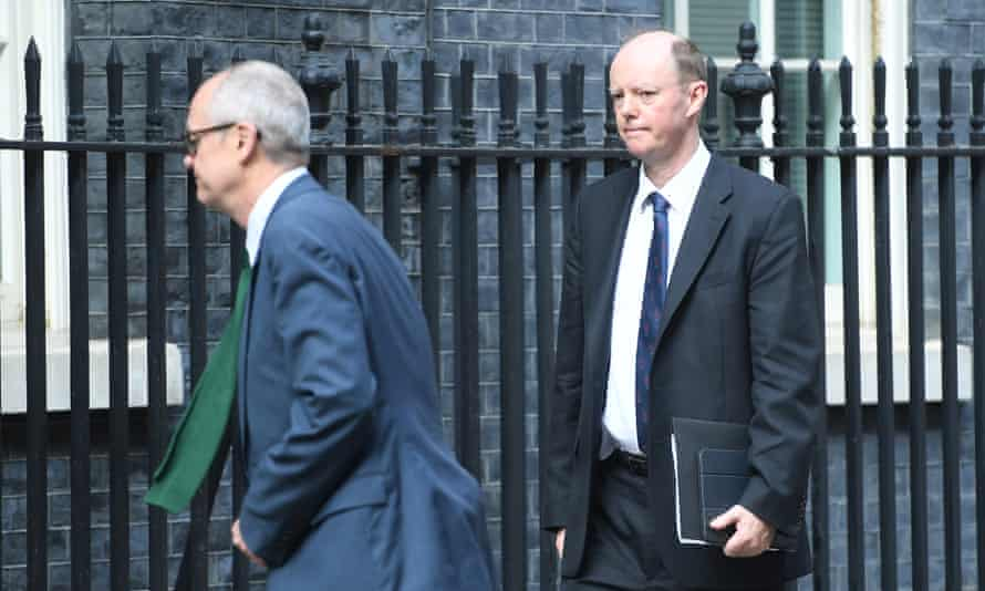 Patrick Vallance (left) and Chris Whittey in Downing Street earlier this month