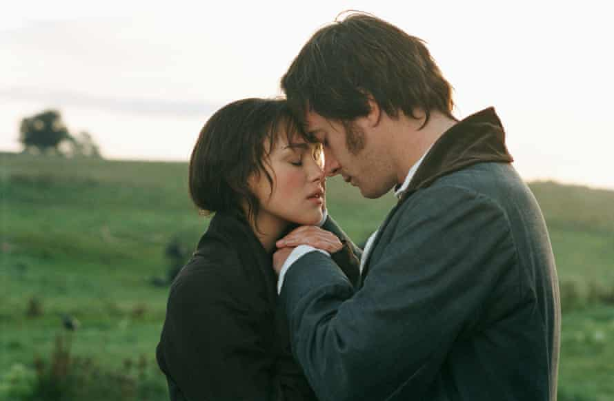 Keira Knightley and Matthew Macfadyen as Lizzie Bennet and Mr Darcy in Joe Wright's 2005 Pride and Prejudice.