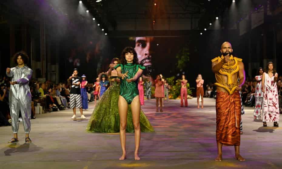 The First Nations Fashion + Design runway show at Australian Fashion Week