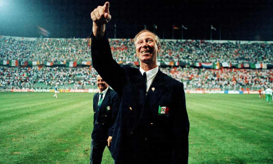 Jack Charlton, as manager of the Republic of Ireland, in Palermo, Italy, in 1990.