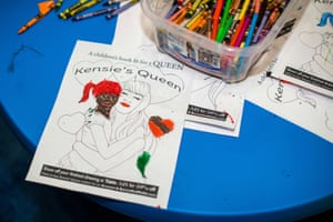 Colouring-in table at RuPaul's DragCon