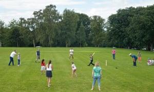 Cricket in Norwich's Eaton Park.