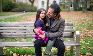 Sarfraz Manor with his daughter, Laila.