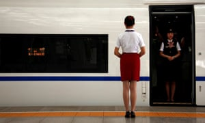 Nanchang railway police said the man's behaviour on the train 'did not constitute molesting'.