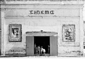 Naples. Cinema in the outskirts of Naples, Italy, 1956.