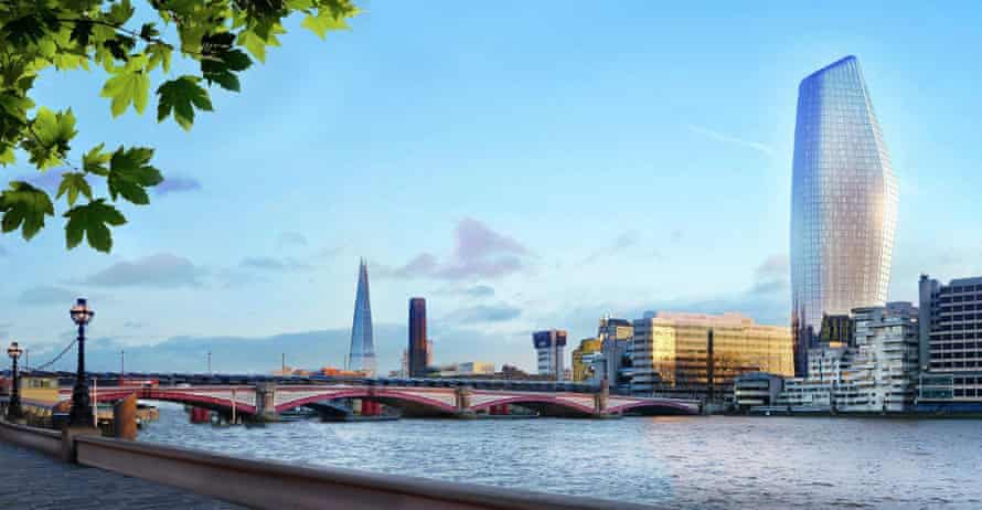 'The Boomerang': an artist's impression of One Blackfriars, currently under construction