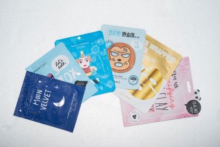 A range of face masks on the market.