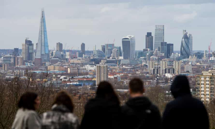 The London skyline, March 2016.