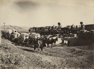 """Supply Trains, 1868, Plate 27, """"The Great West Illustrated"""""""