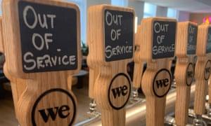 Beer taps at WeWork HQ.
