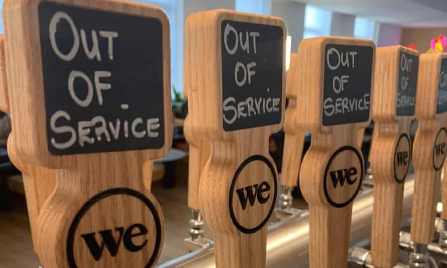 Beer taps at WeWork HQ in New York