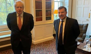 Andy Carter MP (right) with Boris Johnson in Downing Street