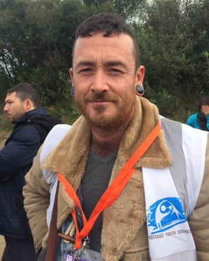 Michael McHugh, volunteer at the Calais refugee camp.