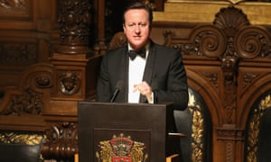 David Cameron tries to woo Germany in a speech at Hamburg city hall.