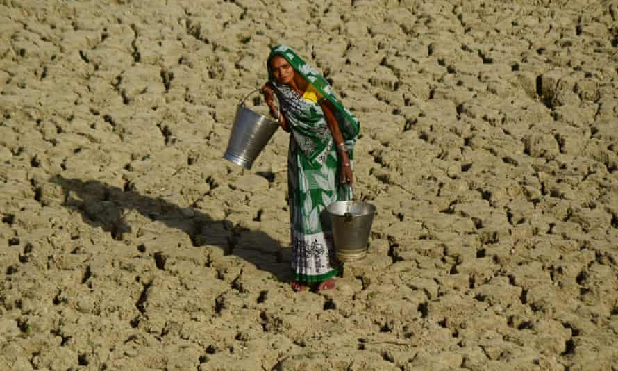 A heatwave in India where temperatures were recorded at 51.0C. Climate change means the occurrence and impact of extreme weather events has risen.