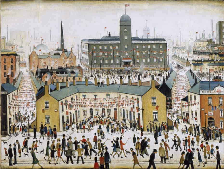 VE Day 1945 by LS Lowry.