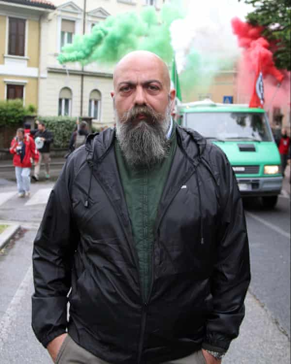 Casapound leader Gianluca Iannone.