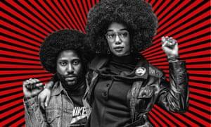 Power play … John David Washington and Laura Harrier in BlacKkKlansman.