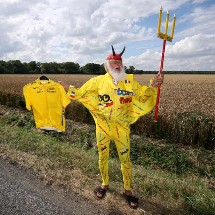 Didi Senft AKA El Diablo cuts a dashing figure in yellow rather than his usual red and black.