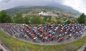 The peleton during stage eight.