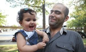 费兹和他的女儿在达拉斯。