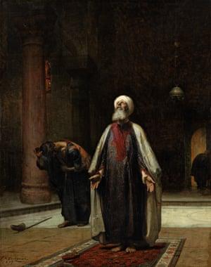 The Prayer by Frederick Arthur Bridgman.