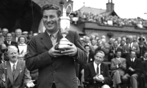 Peter Thomson wins the Open at Hoylake in 1956.