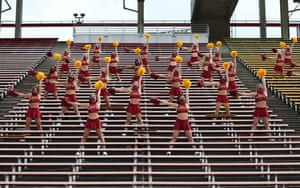 Iowa State University cheer squad