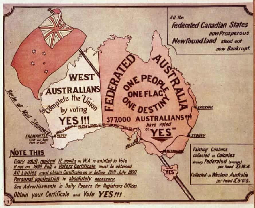Campaign image from the WA 1900 referendum.
