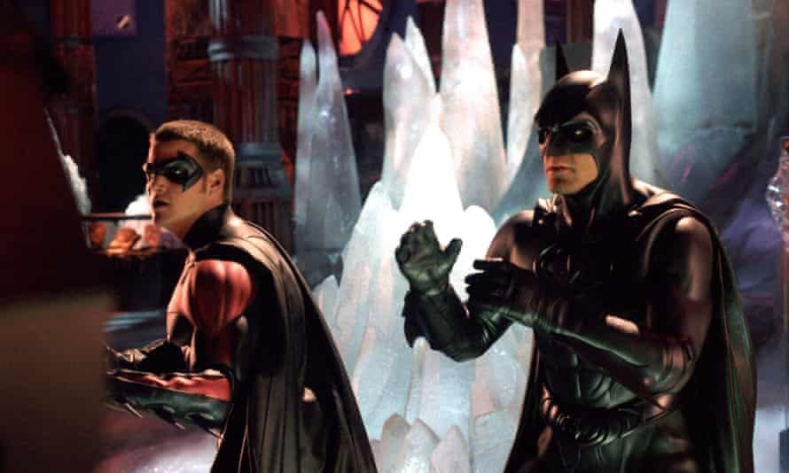 Chris O'Donnell (Robin) and George Clooney (Batman) in 1997's disastrous Batman & Robin.