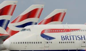 British Airways aircraft at Heathrow
