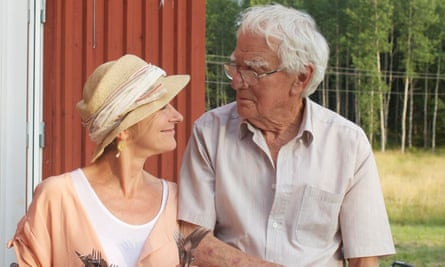 Nicci Gerrard with her father John in Sweden in the summer of 2013.