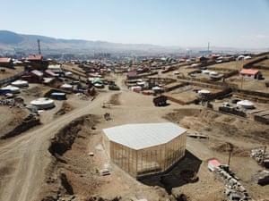 Big city hustle … tents dot Ulaanbaatar's suburbs.