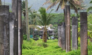 The abandoned Sheraton Hotel in the Cook Islands