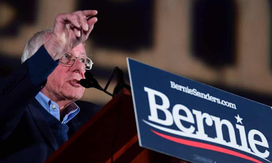 Bernie Sanders at a rally in Nevada on Friday.