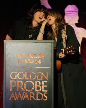 Ambrosia Parsley and Holly Miranda perform at the Golden Probe awards.