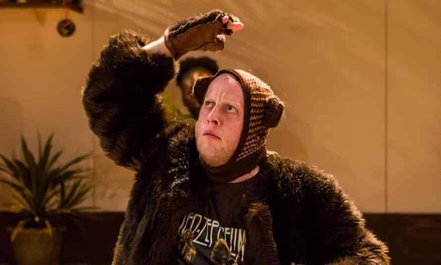 Marek Larwood as Bear in I Want My Hat Back at the National.