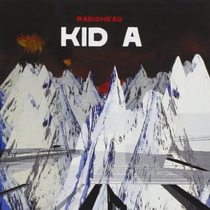 Radiohead Kid A album cover 2000, created by Thom Yorke and Stanley Donwood.