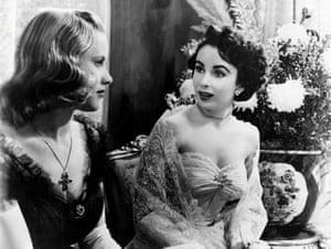 Honor Blackman with Elizabeth Taylor in Conspirator, 1949