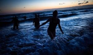 A Starry Night Swim on Harlech Beach.